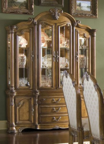 Picture of Aico Furniture China Cabinet  - Amaretto (77005-23R) (77005-23R) (China Cabinets)