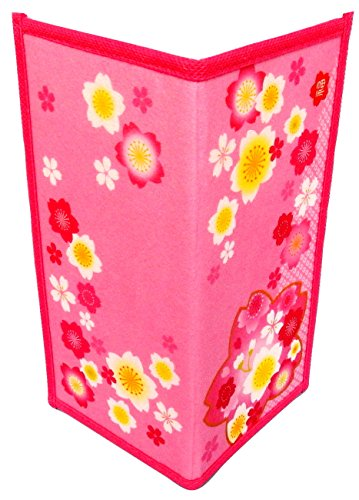 Set of 2 Japanese Rice Paper Wallet or Checkbook Cover Cherry Blossoms Design Decorative Gift Box Included (Japanese Rice Paper Wallet compare prices)