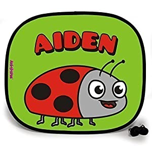 123t ANI-MATES LADYBIRD PERSONALISED Baby/Child Vehicle Sunshade x 2 birthday funny gift for him