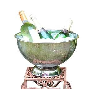 Seau à Champagne - Seau à Vin - Rafraîchisseur - en acier inoxydable
