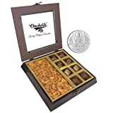 Chocholik Premium Gifts - Unique Combination Of Chocolates & Almonds With 5gm Pure Silver Coin - Diwali Gifts