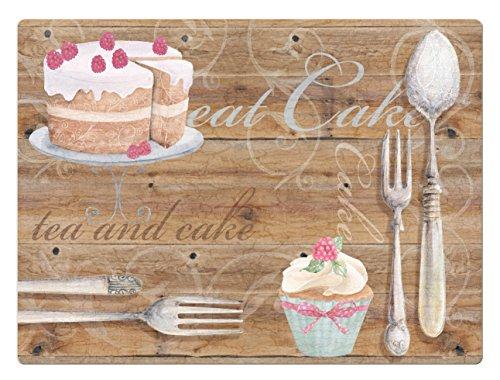 Howard Shooter, con tè e torta tovagliette all'americana, in sughero, multicolore, Set da 4