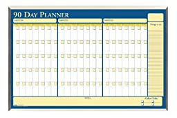 House of Doolittle 90-Day Laminated Aluminum Frame Non-Dated Planner 32 x 21.5 Inch with Write on/Wipe off Feature, Recycled (HOD6655)