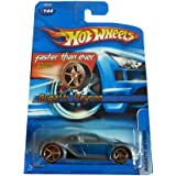 Hot Wheels 2006-144 Bugatti Veyron Blue/Silver FTE Faster Than Ever 1:64 Scale GOLD 5SP Wheels (Color: Gray, Tamaño: 1:64 Scale ~ 3