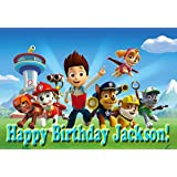"Paw Patrol ""Ready For Action!"" 1/4 Sheet Edible Frosting Photo Birthday Cake Topper. ~ Pesonalized!"