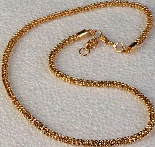 Gold-Polished Pendant Chain - Copper Alloy