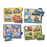 Melissa & Doug Vehicles Mini-Puzzle Pack ~ Melissa & Doug