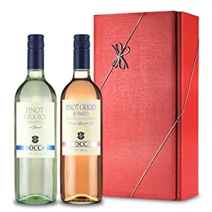 Le Bon Vin Pinot Grigio Twin Wine Gift Set 75 Cl Pack Of 2