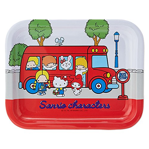 Sanrio Sanrio Characters steel tray '70s bus From Japan New (70s Dress Up Ideas)