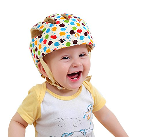 ELENKER Baby Children Infant Adjustable Safety Helmet Headguard Protective Harnesses Cap Colorful (Baby Protection Helmet compare prices)