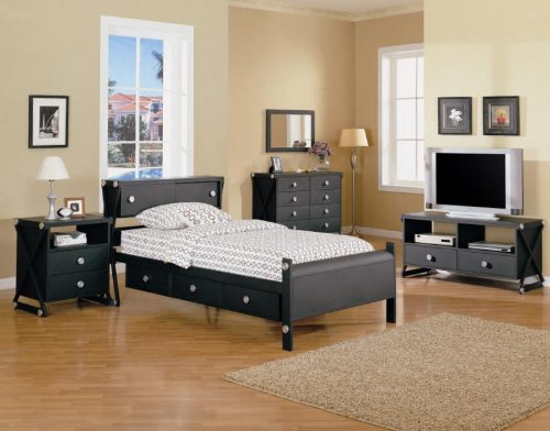 Buy Black Matte Metal Youth 4pc Twin Size Bedroom Set Pwilliamgb 39 S Diary