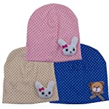 Cute Cartoon Cotton Dot Bear Baby Kids Spring Autumn Cap Hat