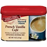 General Foods International French Vanilla Cafe Coffee Drink Mix, 9-Ounce Tins (Pack of 6)
