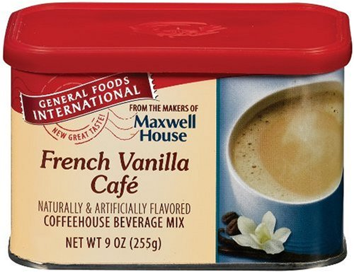 General Foods International French Vanilla Cafe Coffee Drink Mix, 9-Ounce Tins (Pack of 6) (French Foods compare prices)