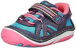 Stride Rite SRT SM Bristol Sneaker (Infant/Toddler),Blue/Pink,3 W US Infant
