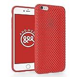 AndMesh 日本製 iPhone6s Plus / 6 Plus 両対応 ケース Mesh Case 日本製エラストマー使用 Red 赤 レッド | AMMSC610-RED