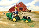 Tractor Ride 1000 pc John Deere Tin