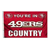 San Francisco 49Ers NFL You're in 49ers Country 3'x5′ Banner Flag San Francisco 49Ers NFL You're in