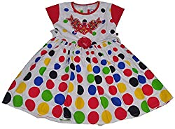Be BeBo Girl's cotton Regular Fit Dress (531, Pink, 3-4yrs)
