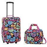 Rockland Rio Upright Carry-On & Tote 2-Piece Luggage Set - New Heart