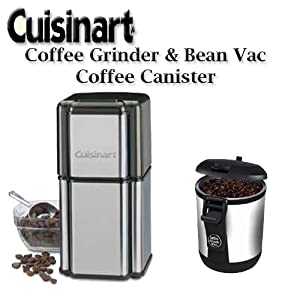 Cuisinart Coffee Maker Grinder Lid : Amazon.com: Cuisinart Grind Central DCG12BC Coffee Grinder & Bean Vac Coffee Canister: Power ...