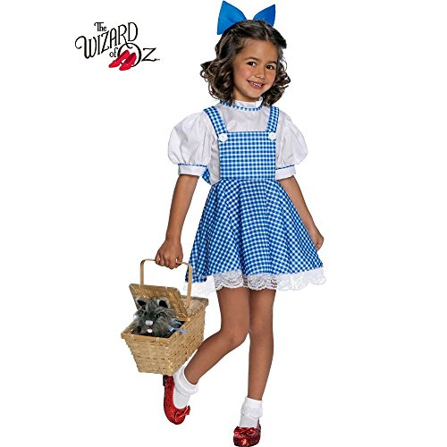 Girl's Deluxe Dorothy Wizard of Oz Costume (Child Deluxe Dorothy Ruby Slippers)