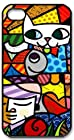 ROmeo Romero Britto Cat Dog Love Art Iphone 5 Slim-fit Case, Best Iphone Case Fell Happy Store's