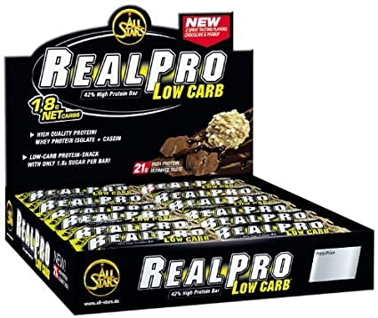 All Stars Realpro 50g, Low Carb Riegel Schoko-Banane, 24 Riegel im Display