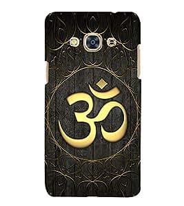 Golden Om Mantra 3D Hard Polycarbonate Designer Back Case Cover for Samsung Galaxy J3 Pro