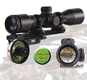 HHA Optimizer Speed Dial Crossbow Sight Mount + Optimizer X 30/30 Reticle Scope #39008