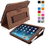 Snugg™ iPad Mini & Mini 2 Case - Smart Cover with Flip Stand & Lifetime Guarantee (Distressed Brown Leather) for Apple iPad Mini & Mini 2 with Retina