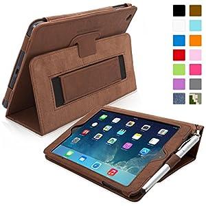 Snugg Étui Pour iPad Mini & Mini 2 - Smart Cover Avec Support Pied Et Une Garantie à Vie (En Cuir Marron) Pour Apple iPad Mini & Mini 2