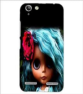 PrintDhaba Blue Hair Doll D-1045 Back Case Cover for LENOVO VIBE K5 (Multi-Coloured)