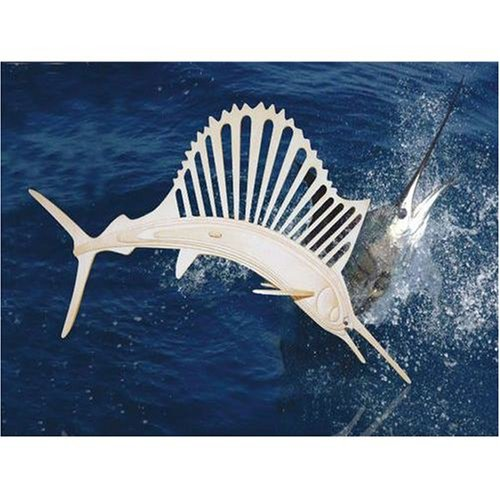 Sailfish 3D Woodcraft Construction Kit - Buy Sailfish 3D Woodcraft Construction Kit - Purchase Sailfish 3D Woodcraft Construction Kit (Puzzled by Creative Ventures, Toys & Games,Categories,Construction Blocks & Models,Construction & Models,Animals & Insects)