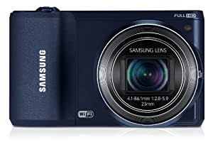 Samsung WB800F Smart Camera 2.0 with Built-in Wi-Fi Connectivity - Cobalt Black/Dark Blue (16.3MP, 21x Optical Zoom) 3.0 inch HVGA Touch Screen