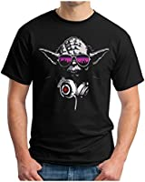 OM3 - DJ-YODA - T-Shirt TURNTABLES MUSIC STORMTROOPER RAVE HOUSE INDIE GEEK FUN EMO, S - 5XL