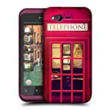 Head Case Designs Red Telephone Booth Best of London Hard Back Case Cover for HTC Rhyme