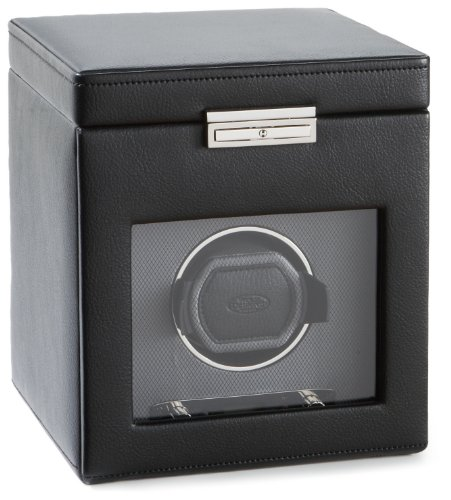 Wolf Designs  4561-02 Module 2.7 Single Watch Winder with Cover and Storage