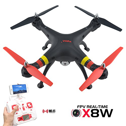 Potensic RC Quadcopter Syma X8W 2.4G 4ch 6 Axis Real Time FPV Drone