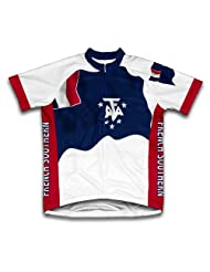 French Southern Flag Short Sleeve Cycling Jersey for Women