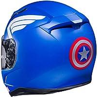HJC Marvel Captain Amerika CL-17 Men's Street Bike Motorcycle Helmet - MC-2F Small by HJC