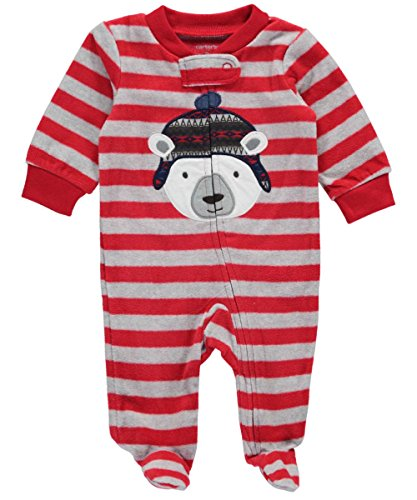 carters-baby-boys-arctic-bear-footed-coverall-red-9-months