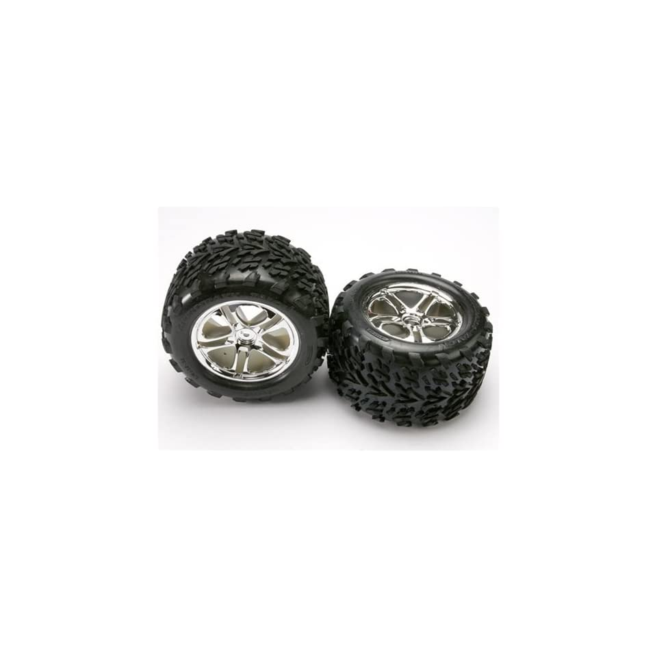 Traxxas TRA5174 Talon Tires Split Spoke Chrome Wheels Foam