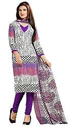 Parinaaz fashion White,Multi Chudidar Silk Dress Material
