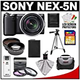 Discount on Sony Alpha NEX-5N Digital Camera Body &amp; E 18-55mm OSS Lens (Black) with 32GB Card + Battery + 3 UV/FLD/PL Filters + 2x Telephoto &amp; .45x Wide-Angle Lenses + Case + Tripod + Accessory Kit Reviews