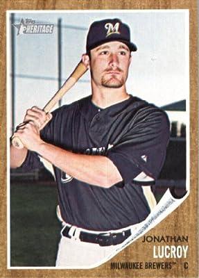2011 Topps Heritage Baseball Card #247 Jonathan Lucroy - Milwaukee Brewers - MLB Trading Card