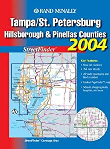 Streetfinder - Tampa/St. Petersburg // Hillsborough and Pinellas Counties (Rand McNally Tampa/St. Petersburg Street Guide: Including Hillsborou) from Rand McNally & Company