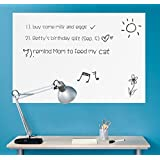 """Wall26® - Removable Dry Erase Message Board Peel and Stick Decal Sheet w/ Black Marker Pen - 24"""" x 36"""""""