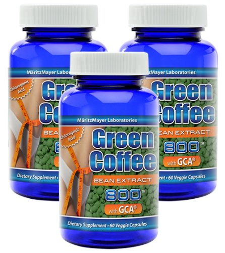 Coffee Bean Extract 900 Mg ~ Pure Green Coffee Bean Extract 800 Mg ~ 100 Mg Raspberry Ketones - 60 Capsules