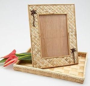 Amazon.com - Photo Frame Pandan Bamboo & Coconut Tree 5 x ...